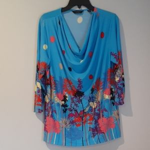 Investments Petites Blouse with Floral Print PXL